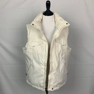 Columbia Puffer Vest White Womens XL